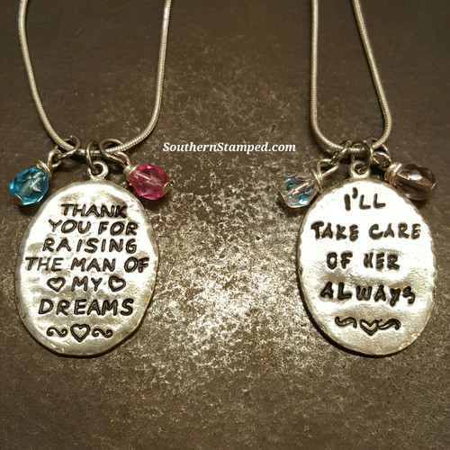 Thank You For Raising/I'll Take Care Of Her Always Pewter Set