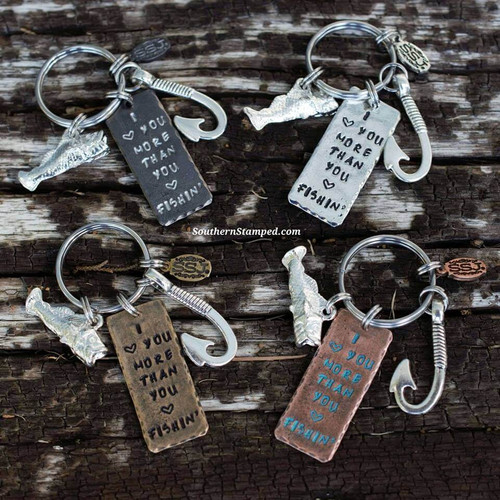 I Love You More Than You Love Fishin' Key Chain