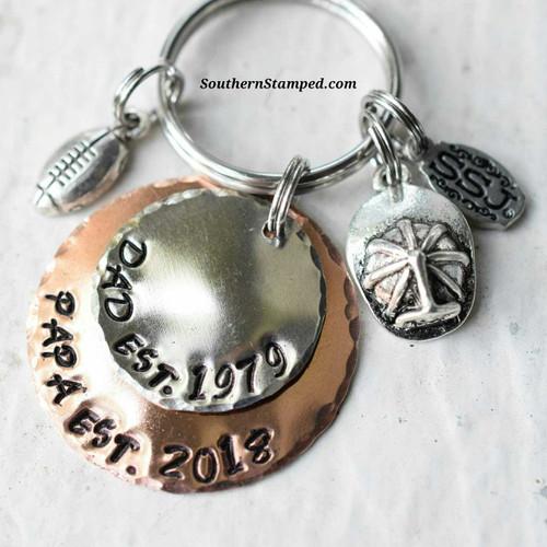 Dad Est. /Papa Est. Key Chain