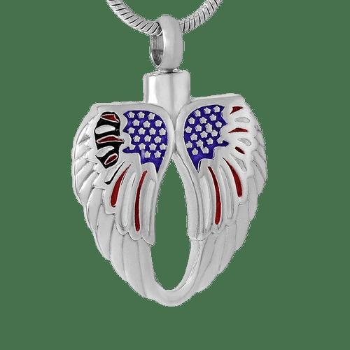American Flag Angel Wings Styled Urn