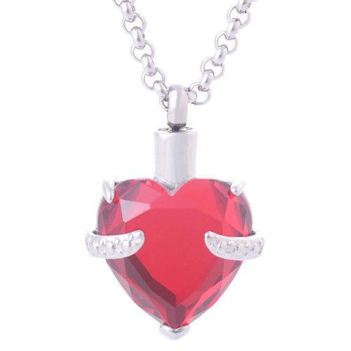 Red Heart Shaped Ashes Holder