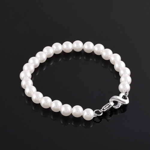 Stainless Steel Infinity Pearl Bracelet