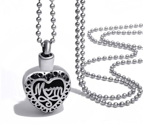 Mom Memorial Urn Necklace