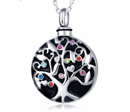 Family Tree Urn Necklace
