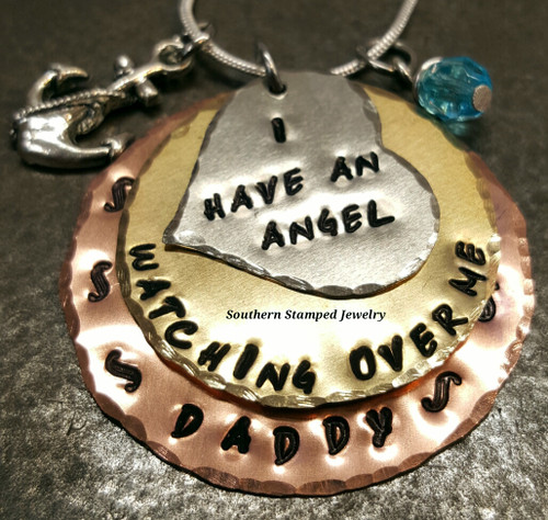 I Have An Angel Watching Over Me 3 Layer Mixed Metal