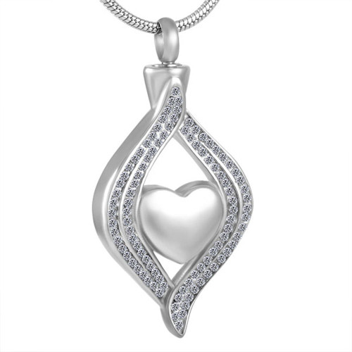Heart in Arms Urn Necklace