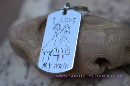 Engraved Artwork/Image Stainless Steel Dog Tag