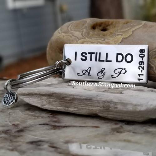 I Still Do Stainless Key Chain