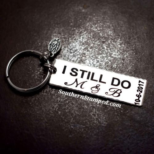 I Still Do Silver Key Chain