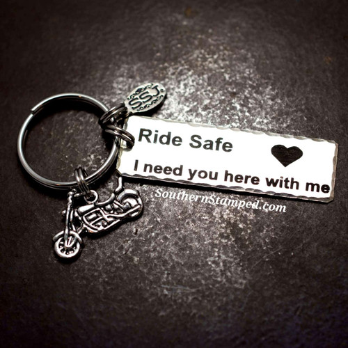 Ride Safe With Motorcycle Key Chain