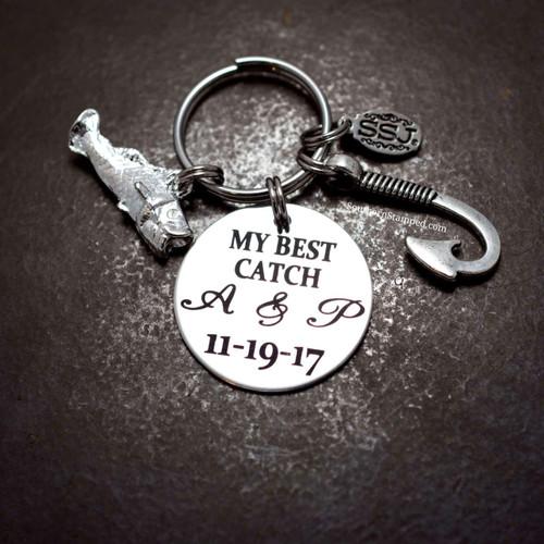 My Best Catch Key Chain