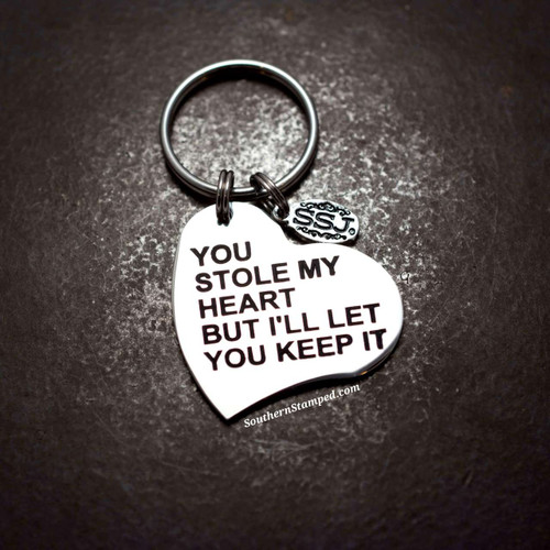 You Stole My Heart Key Chain