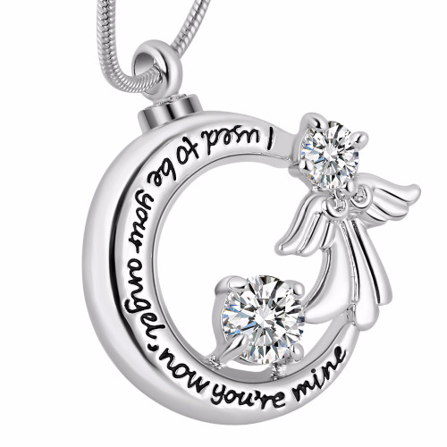 I Used To Be Your Angel Now Youre Mine Silver Guardian Angel Necklace