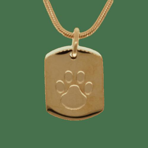 Dog Tag wih Paw Memorial Keepsake Urn