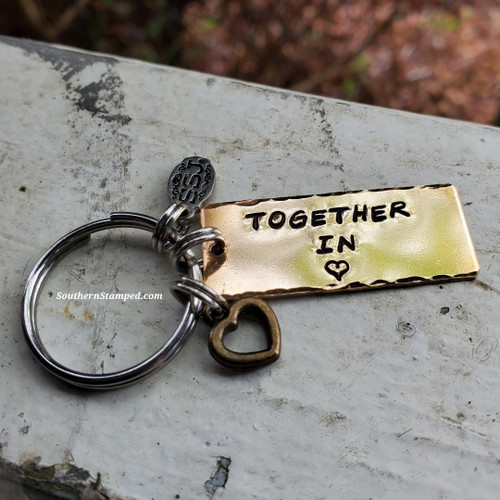 Together In Heart Keychain