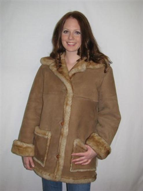 Sheepskin Coat Ladies 'Ms Kitty sheepskin coat' front
