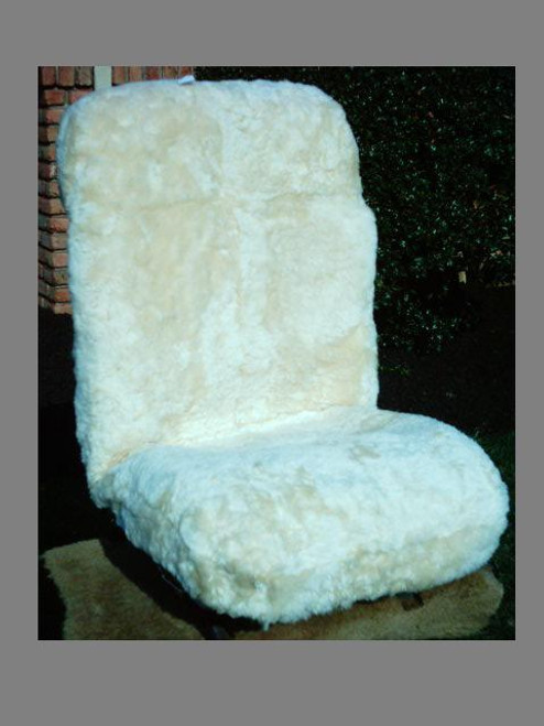 Sheepskin Seat Cover - low back seat cover with removable head rest