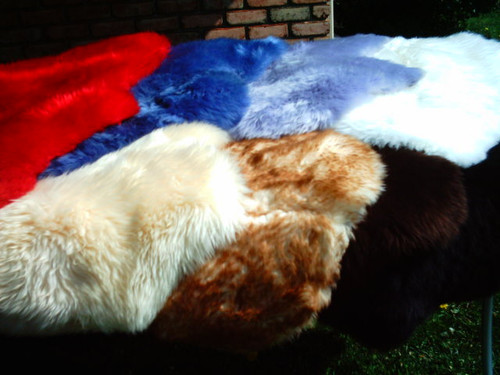 Long Haired Sheepskin Hide