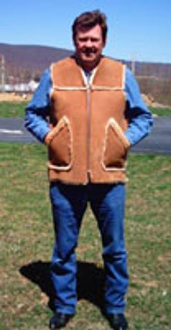 Sheepskin Kidney Vest Front