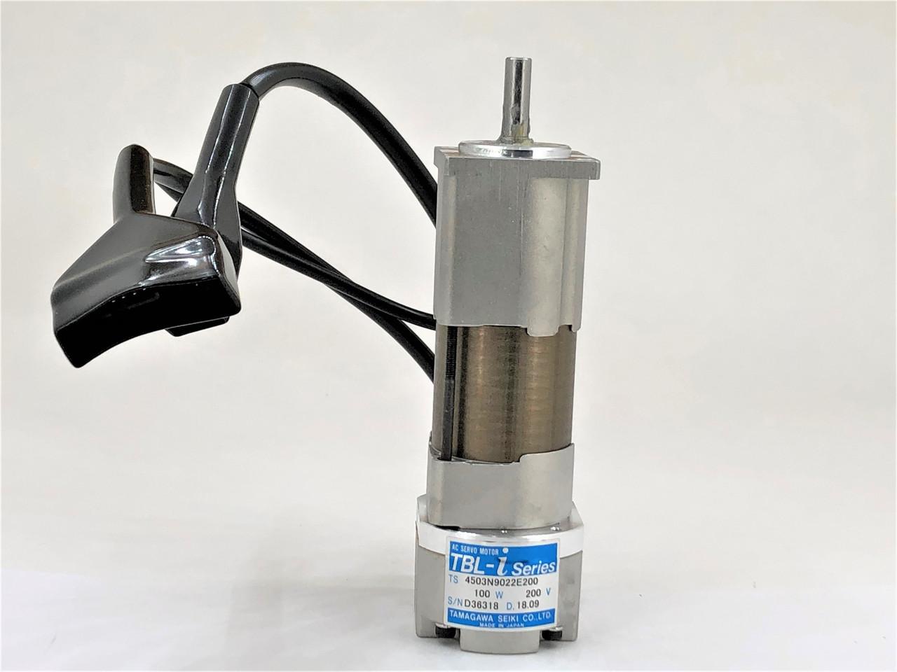 Servo Motor wBrake 100 Watt 4-Pin Yamaha Robot 200mm Lead