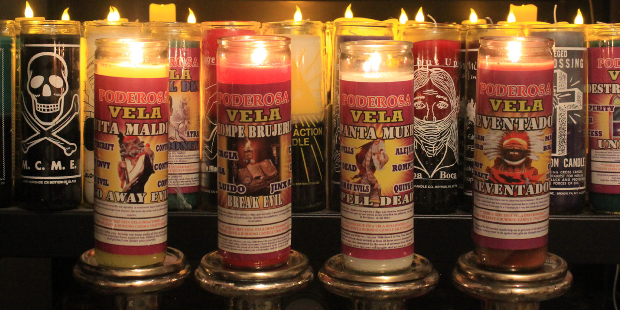 Candles to expel witchcraft, to make evil go away, to cast the dead away and to break spells.