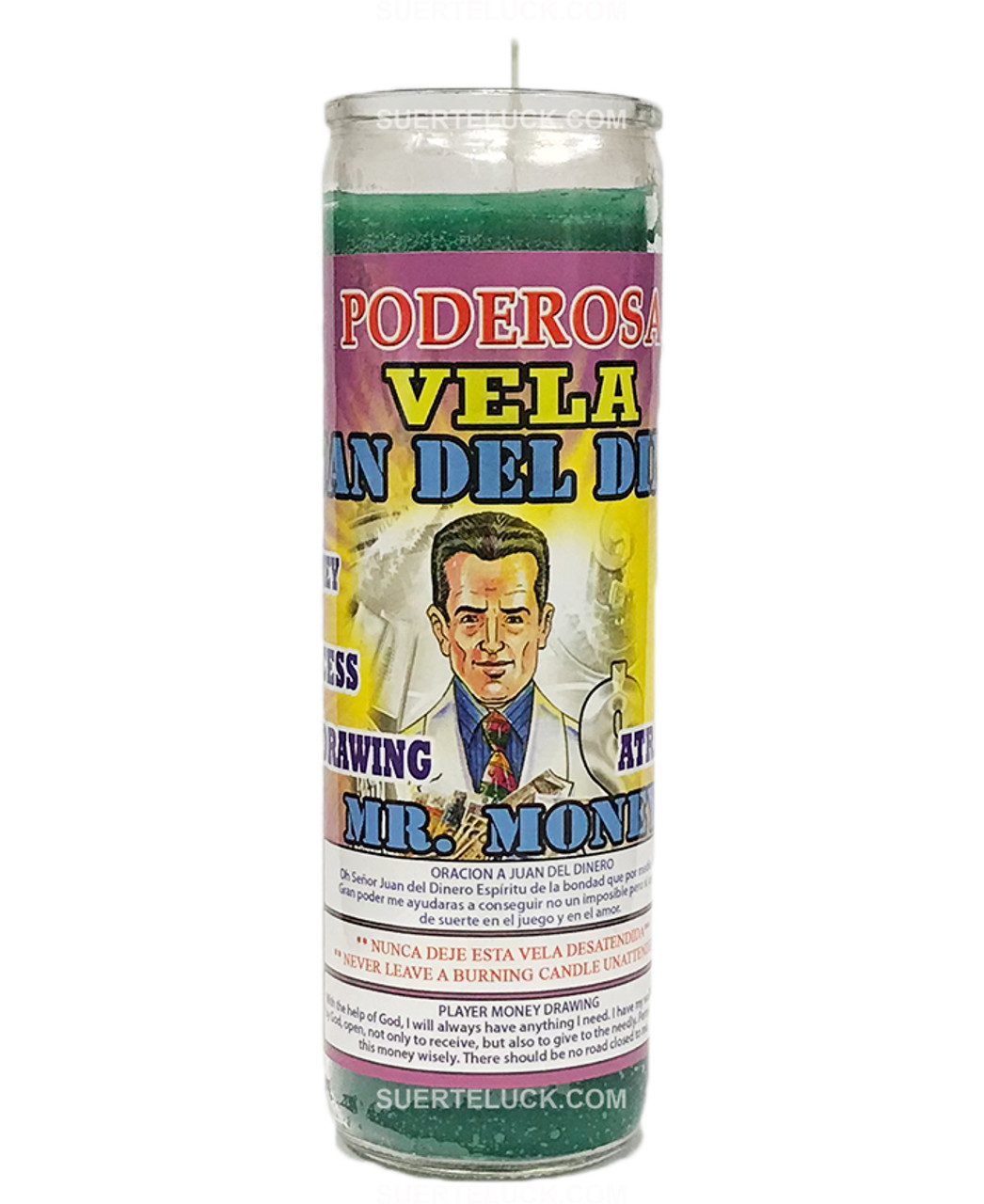 Mr  Money Scented Spiritual Candle -Vela De Don Dinero