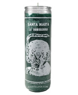 Candle Santa Martha Dominadora  7 day spiritual candle green tall candle