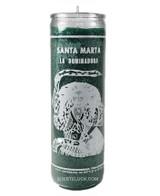 Candle Santa Martha Dominadora  7 day spiritual candle green tall candle