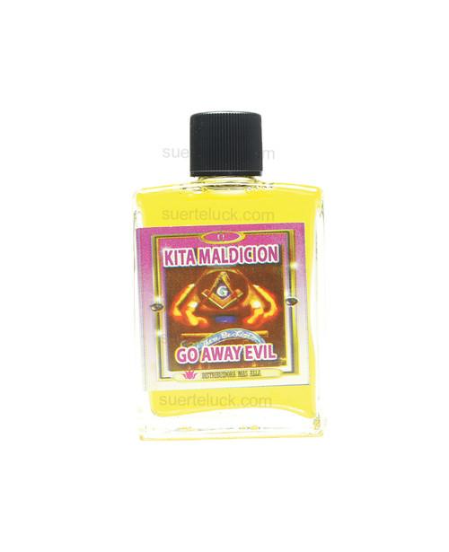 Spiritual Oil Go Away Evil  Perfume Espiritual Kita Maldicion  1 ounce square glass bottle with black cap