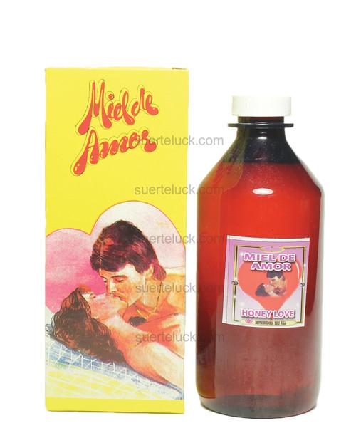 Spiritual Bath Honey of Love  8 ounce amber plastic bottle  Yellow Honey Of Love Packaging