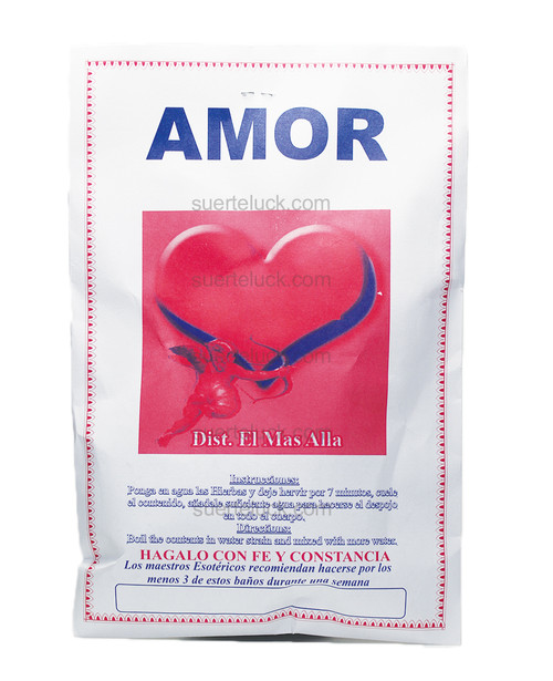 Spiritual Love Herb Bath  Baño de Plantas Amor  Spiritual Plants packaged in a white envelope