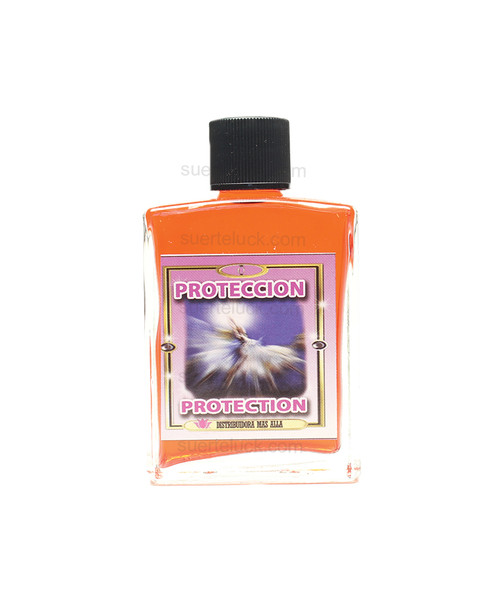 Spiritual Perfume Protection  Perfume Espiritual Proteccion 1 ounce glass square bottle with a black cap