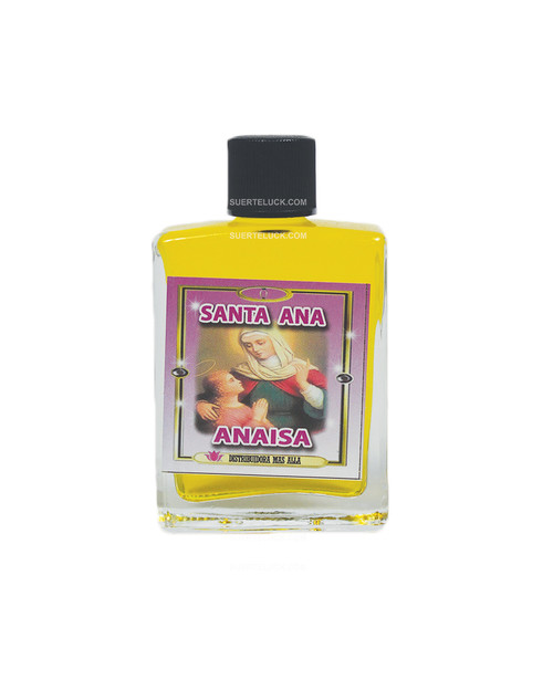 Spiritual Perfume Saint Anne  1 ounce square bottle  Yellow Spiritual Perfume  Anaisa