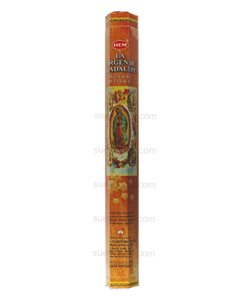Incense Sticks Virgin of Guadalupe Incienso Virgen de Guadalupe  Handrolled incense