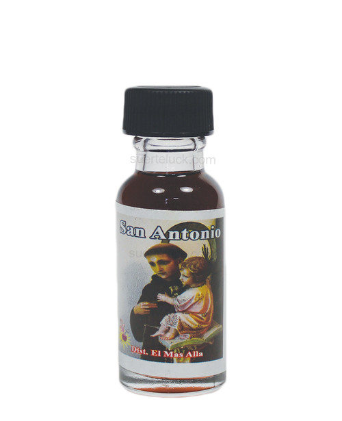 Spiritual Oil Saint Anthony  Aceite Espiritual San Antonio 1/2 ounce round glass bottle