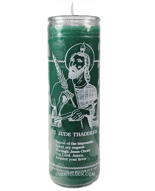 Spiritual Candle Saint Jude  Tall glass candle  Saint Jude church candle 7 day candle