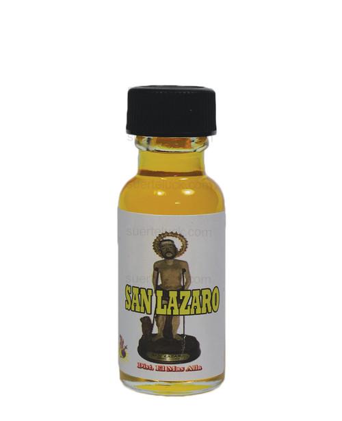 Spiritual oil Saint Lazarus 1/2 ounce round glass bottle  Yellow spiritual oil