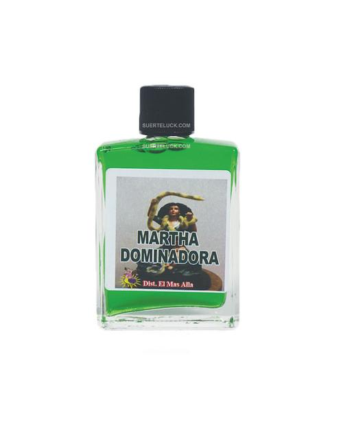 Spiritual Perfume Santa Martha Dominadora  1 ounce square glass bottle Green spiritual perfume