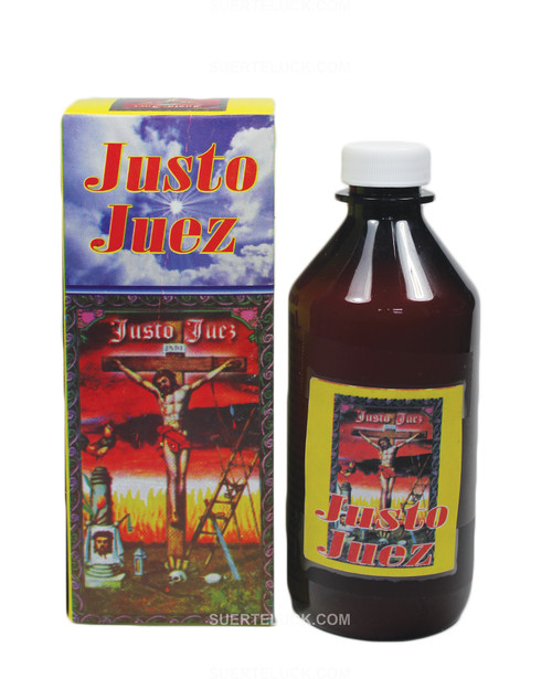 Spritual bath Justo Juez  8 ounce brown bottle Justo Juez box