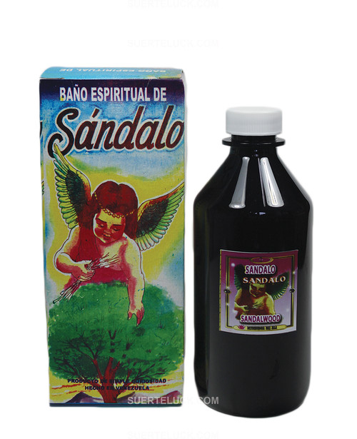 Spiritual Bath Sandalwood  Sandalwood bath box  8 ounce brown plastic bottle