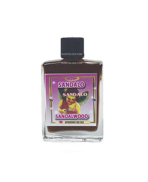 Spiritual Perfume Sandalwood  1 ounce square glass bottle  Perfume espiritual de Sandalo