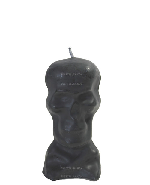 Black Skull Candle  Image Skull candle