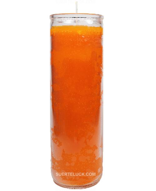 Plain Orange Spiritual Candle 7 Days Spiritual Candle