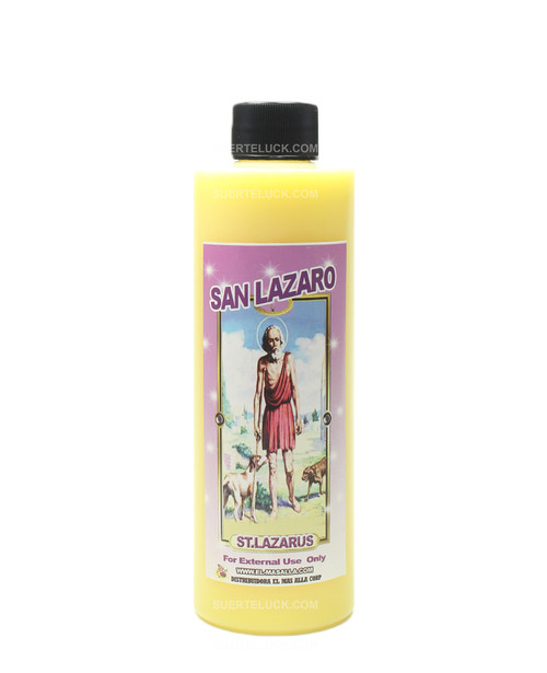 Spiritual Bath Saint Lazarus 8 ounce plastic bottle