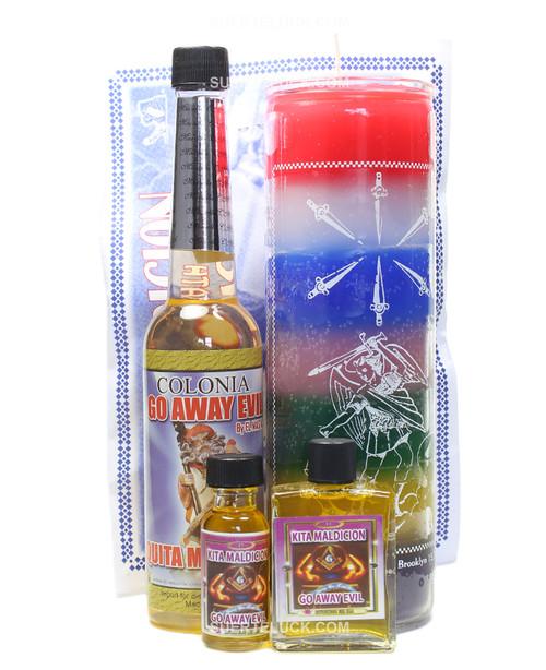 Keep Away Evil Spiritual Ritual  Herb bath  Cologne  Saint Candle  Perfume Oil