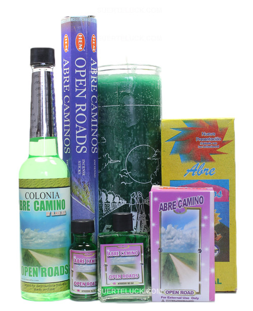Open Roads Ritual Abre Caminos  Cologne Incense Candle Bath Soap Perfume Oil