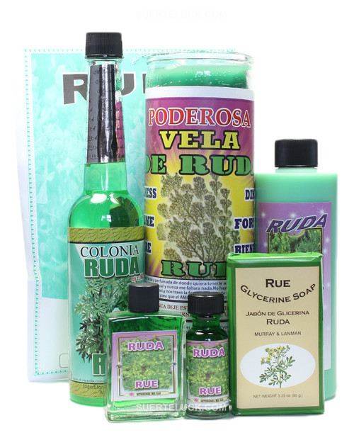 Ruda Spiritual Ritual Rue Herb bath Cologne Scented Candle Body Wash Soap Oil Perfume
