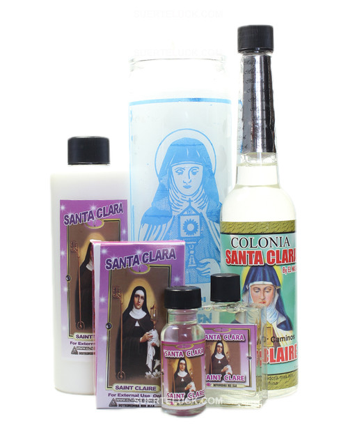 Santa Clara Spiritual Ritual Body wash Candle Cologne Perfume Oil Soap