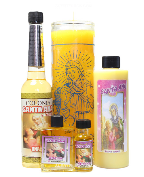 Saint Anne Spiritual Ritual Santa Ana Cologne Candle Body wash Oil Perfume