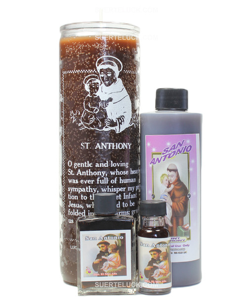 Saint Anthony Spiritual Ritual San Antonio Candle Body wash Oil Perfume